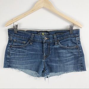 Lucky brand daisy duke cut off shorts size 6/28